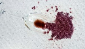 spilled wine (alcohol and brains concept)