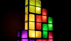 tetris blocks (building blocks of life concept)