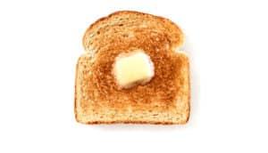 piece of toast on white