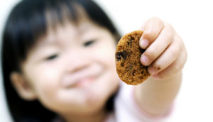 toddler sharing cookie (fairness concept)
