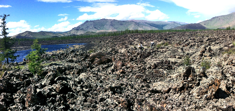 Khorgo lava field (droughts in Mongolia)