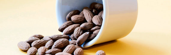 almonds spilling (colon cancer and nuts concept)