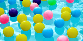 balls in a pool (micro-robots and magnetic fields concept)