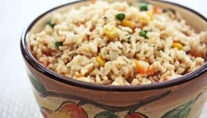 brown rice dish (type 2 diabetes + fiber concept)