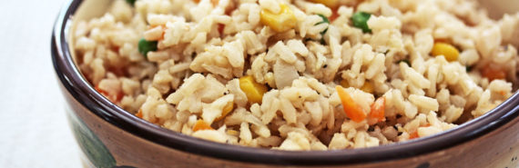 brown rice dish (type 2 diabetes + fiber concept)