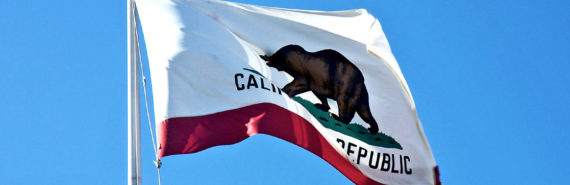 California state flag (foreign policy & states concept)
