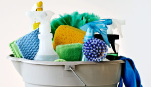cleaning products (chemical sensitivity concept)