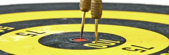 dart board darts (breast cancer concept)