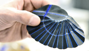 3D printed replica of earwig's wing