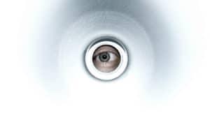 eye looks through white hole