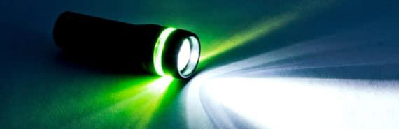 flashlight on the ground (biosensor concept)