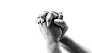 hands praying (church concept)