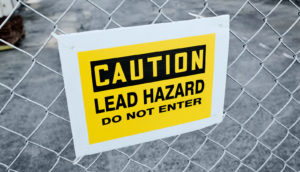 lead warning sign (solar cells concept)