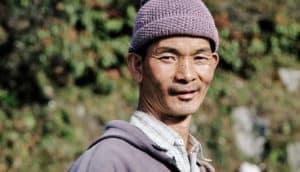 man in Sikkim, India