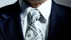 money tie (executives concept)