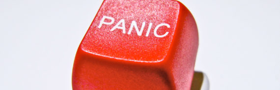 red panic button - science in crisis