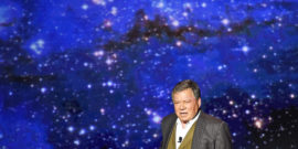 william shatner against space background