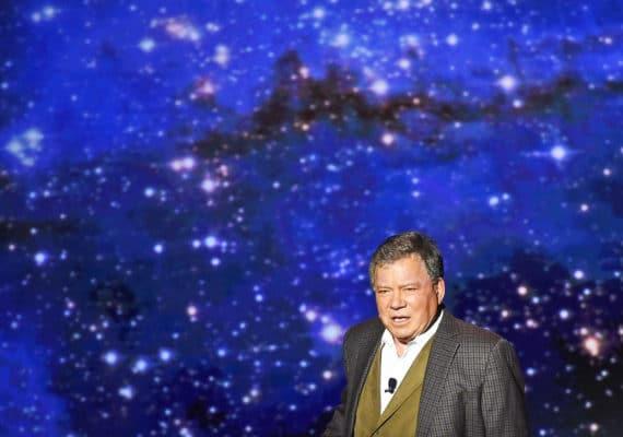 william shatner against space background