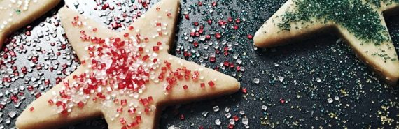 star-shaped cookies (black holes eating stars concept)