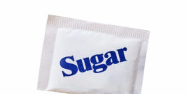 white sugar packet