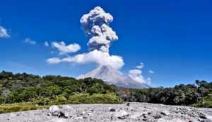 volcanic eruption ash cloud (natural gas concept)