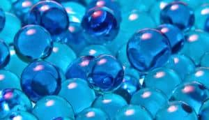 blue bubbles (brain tumors test concept)