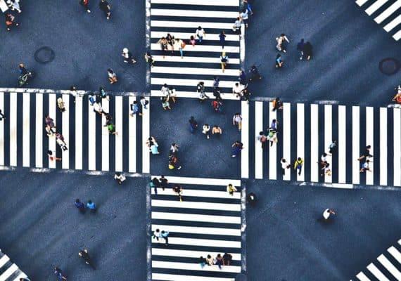 cross walks cross (cities concept)