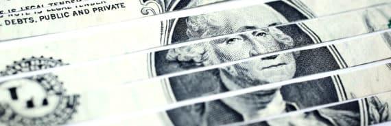 cut up dollar bill
