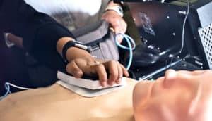 defibrillator needle pad add-on