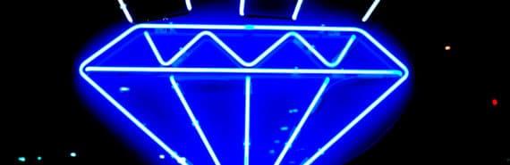 diamond neon sign (MRI scans concept)