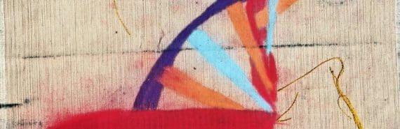 dna on canvas (junk DNA concept)