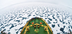ice breaker ship in Russian Arctic