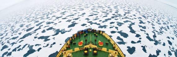 ice breaker ship in Russian Arctic
