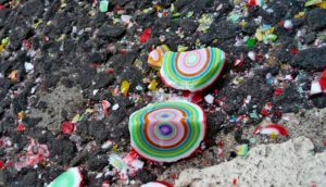 crushed gobstopper candies - super-earth cores