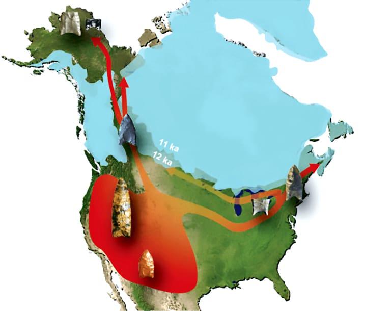 ice age human travel map