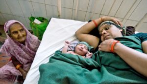 mother and baby in hospital