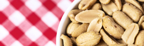 peanuts in a bowl (food allergies concept)
