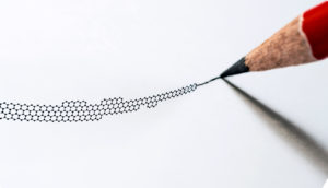 pencil drawing graphene structure