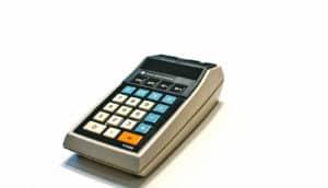 retro calculator - poverty calculator concept