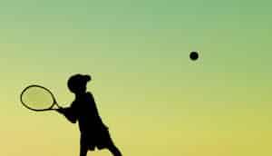 kid hits tennis ball into sky - binary stars concept