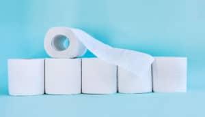 toilet paper rolls (norovirus concept)