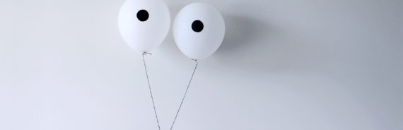 two balloons for eyes (macular degeneration concept)