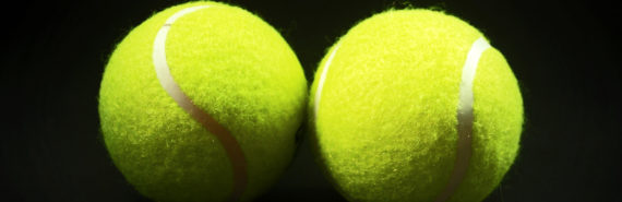 two tennis balls - nanoparticles collide