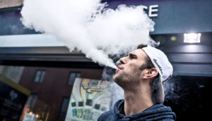 vaping man on the street