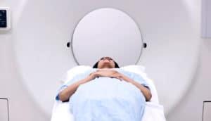 woman in MRI machine (MRI scans concept)