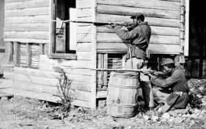 USCT soldiers at Dutch Gap, VA