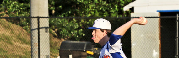 high school pitcher throws baseball