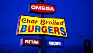 burgers sign (fat concept)