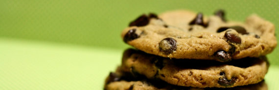 chocolate chip cookies on green - cocoa crops