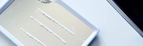 lines of cocaine on mirror - cocaine sensor